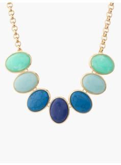 Mixed-Color Cabochon Necklace