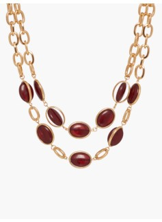 Cabochon Double-Strand Necklace