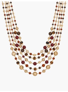 Mixed-Bead Cluster Necklace