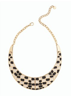 Geo-Embossed Collar Necklace