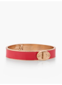 Turnlock Enamel Bangle