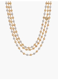 Gold & Silver Bead Necklace