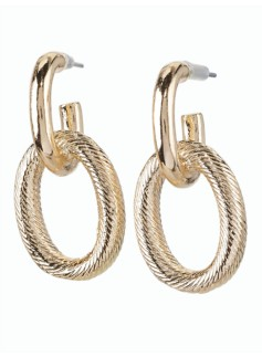 Textured Chain Drop Earrings