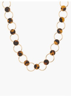 Tortoiseshell & Circle-Link Necklace