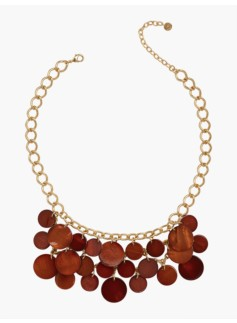 Clustered Disc Necklace