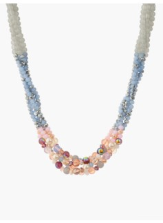 Colorblocked Bead Multi-Strand Necklace