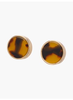 Tortoiseshell & Circle-Link Earrings