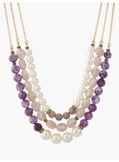 Bead Triple-Strand Necklace