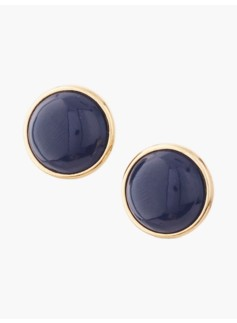 Round Cabochon Earrings