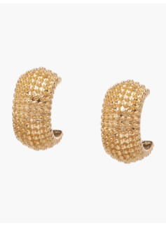 Shot Bead Textured Earrings