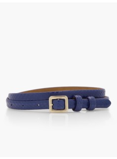 Leather Skinny Belt - Exotic