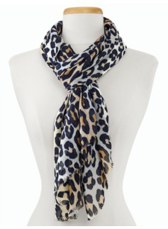 Animal-Blocked Scarf