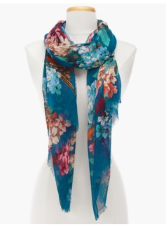 Flowers & Birds Scarf