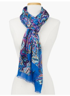 Stained Glass Paisley Scarf