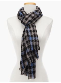 Houndstooth Plaid Scarf