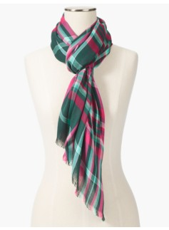 Rustic Plaid Scarf