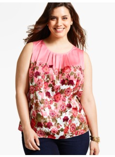 Climbing Floral Shell Top