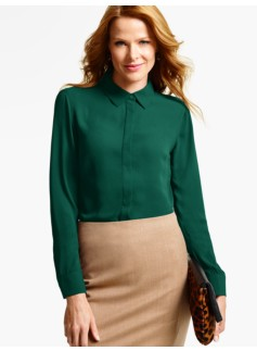 Drapey Textured Blouse