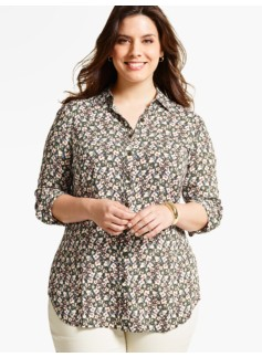 The Long Drapey Shirt - Provence Floral