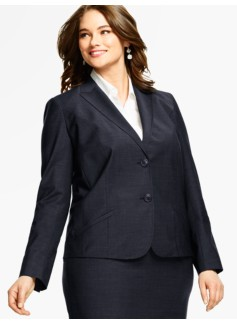 Seasonless Wool Double-Button Blazer - Mid-Length