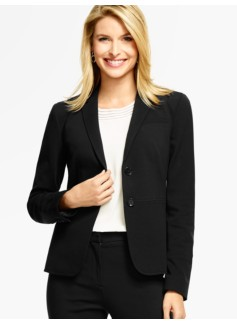 Italian Luxe Knit Double-Button Blazer