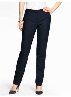 Vintage Dot-Jacquard Full-Length Slim Pant