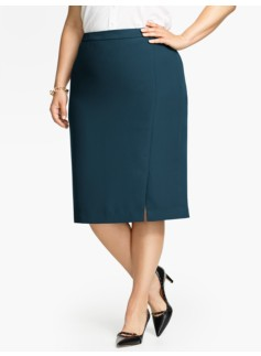 Refined Crepe Straight Skirt