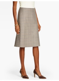 Marbled Glen Plaid Skirt