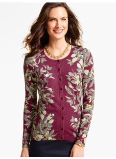 Charming Cardigan - Trellis & Birds
