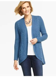 Mixed-Cable Cocoon Cardigan