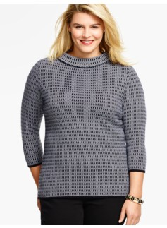 Honeycomb Jacquard Sweater
