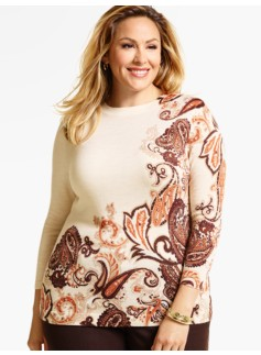 Boylston Paisley Sweater