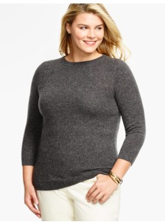 Cashmere Audrey Sweater-Donegal Tweed