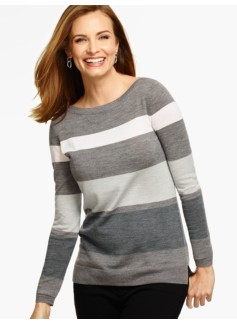 Blocked Stripes Merino Wool Pullover