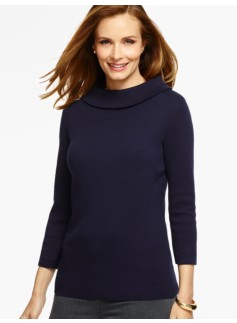 Fold-Over Mockneck Sweater