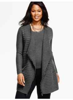 Double-Knit Merino Wool Cardigan