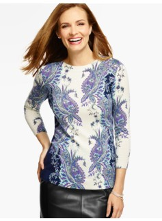 Cashmere Audrey Sweater - Allston Paisley