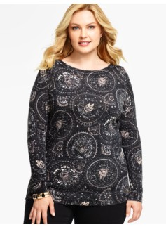 Circles & Paisley Sweater