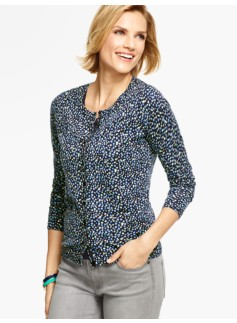 Long-Sleeve Charming Cardigan - Bubble Dots