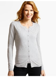 Long-Sleeve Charming Cardigan - Sequin Sparkles