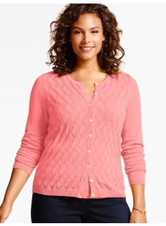 Charming Cardigan-Swirl Textured