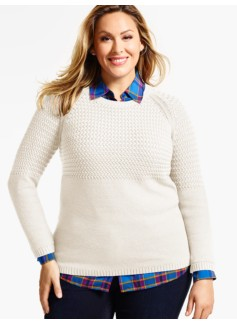 Basket-Weave & Pebble-Stitched Sweater