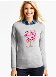Hearts Family Tree Sweater