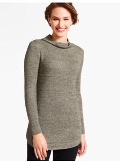 Winter Sparkle Cowlneck Tee