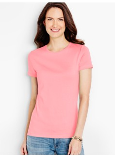 Pima Cotton Short-Sleeve Crewneck Tee-The Talbots Tee
