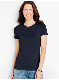 Short-Sleeve Crewneck Pima Cotton Tee