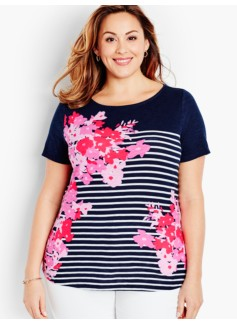 Flowers & Stripes Tee