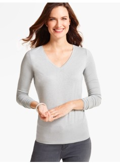 Long-Sleeve V-Neck Tee-Sparkle