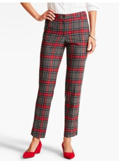 Bonfire Plaid Tailored Ankle Pant