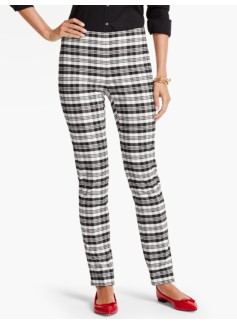 Sutton Plaid Tailored Ankle Pant